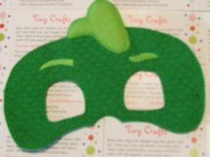 Pajama Hero Green Gecko inspired felt mask for dress up or Halloween Costume Pretend Play Imagination Education party favor by TinyCrafts on Etsy Dress Up Closet, Felt Mask, Pretend Play, Mask Design, Diy For Kids, Little Ones, Party Favors, Party Themes, First Love