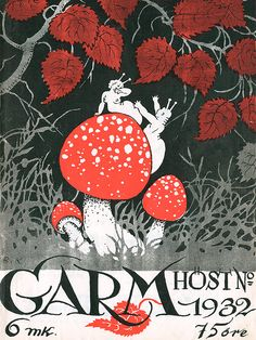 Rudolf Koivu: Garm-lehden kansi, 1932 Weird Art, Strange Art, Make Pictures, Music Covers, Old Postcards, Typography Prints, Vintage Ephemera, Cover Art, Rooster