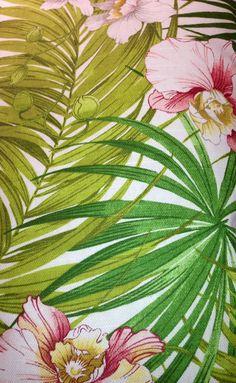 Tropical print.