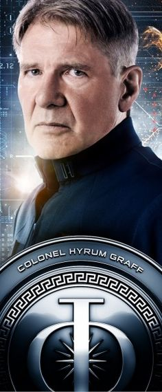 Ender's Game, Harrison Ford as Colonel Hyrum Graff love this movieeeeee! Harrison Ford, Ender's Game Movie, Movie Stars, Movie Tv, Indiana Jones Films, Orson Scott Card, Internet Movies, Family Movies, Game Character