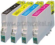 Epson cartridges T0715 in 4 kleuren