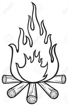 Campfire Black And White Clipart Transparent 99 2kb 840x1300 Coloring Pages Camping Clipart Camping Crafts