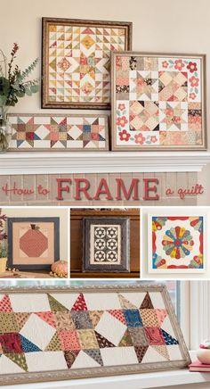 Skip the binding - frame that quilt!