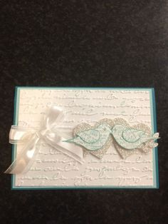 Bird punch engagement card- very pretty!