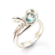 Unique Sterling Silver Blue Topaz Ring One of a Kind by Alex Airey, $279.00 www.etsy.com/shop/alexairey