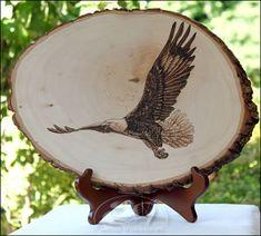 Amish-made Eagle Woodburning