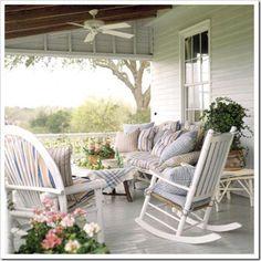 Soft colors, plenty of seating.