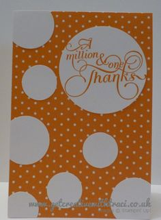 Stampin Up Circle Punch and Million & One Pumpkin Pie Card by Independent Stampin Up Demosntrator Traci Cornelius www.getcreativewithtraci.co.uk