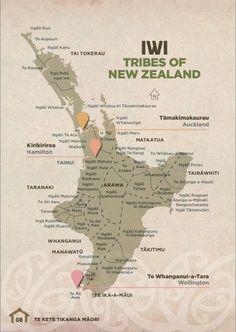 Maori iwi for the north island Maori Words, Map Of New Zealand, Maori Symbols, Maori Tribe, Nz History, Zealand Tattoo, Polynesian Art, Polynesian Culture, Maori People