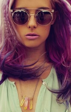 purple, Wow, What I find amazing is even though the colors are unnatural, They look so natural with the skin tones.