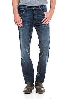 Wrangler Stretch-Jeans Herren Hose Denim Arizona Straight Fit Neu