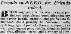 """Friends in Need,   are Friends Indeed...""  George MOORE Requests Payment  Erie Gazette  Erie, Pennsylvania  May 20, 1830  Part 1 of 3"