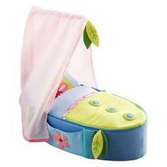 Haba Doll's Carry Cot Bed at Oompa Toys Cot Quilt, Cot Bedding, Dollhouse Accessories, Doll Accessories, Cheap Sleeping Bags, Moses Basket Bedding, Cot Blankets, Baby Doll Nursery, Bitty Baby