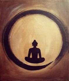 Buddha Painting-silhouette of Buddha meditating with the aura around him.Click the link now to find the center in you with our amazing selections of items ranging from yoga apparel to meditation space decor!
