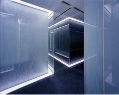 Art Deco Calyon Japanese Trading Office Interior  Interesting Interpretation of the Lighting design.