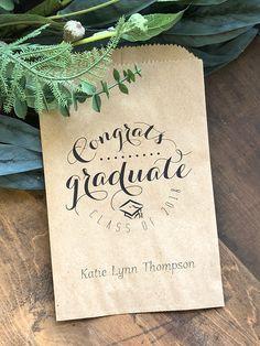 Graduation Favors, Candy Buffet Bag, 25 Favor Bags, custom candy bags, Custom Treat Bags, Personalized Graduation Party