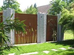 Paras Sichtschutz für den Garten aus Cortenstahl, Rost oder Aluminium - die traumgarten ag