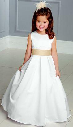 Alternate view of the Jordan Sweet Beginnings Lace-Up Ruffle Back Flower Girls Dress L890 image