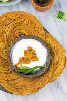 Achaari Lachha Paratha ready to eat