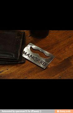 Mancard bottle opener great for groomsmen gifts