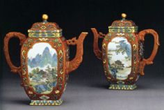 The most expensive teapots ever sold--$1.26 million Famille Rose Coral-Ground teapots.