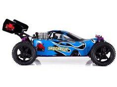 Redcat Racing Shockwave Nitro Buggy, Blue, 1/10 Scale  Redcat Racing