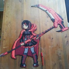 Ruby Rose - RWBY perler beads by sanguine.soul