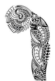 Dessins De Tatouage Maori Pour L Epaule Et Le Bras Polynesien