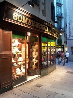Another shot of the antique hat shop in Barcelona.