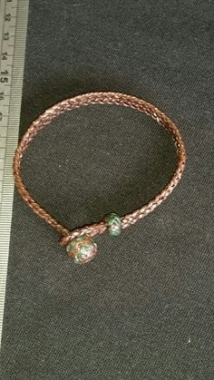 Crocodile ridge ladies bracelet green/brandy