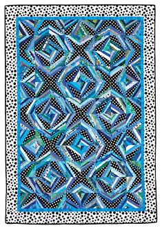 A foundation-pieced string quilt, this pattern is a super-fun way to use up scraps. Star Quilts, Scrappy Quilts, Quilt Block Patterns, Quilt Blocks, Monochromatic Quilt, Foundation, Quilt Modernen, String Quilts, Strings