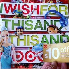 Target Holiday Toy Book and Coupons 2014 - Time 2 Save Workshops