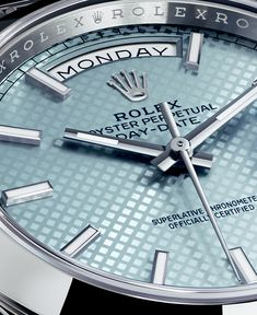 The new Rolex Day-Date /// Founded in GOBBI is an official retail store for refined jewelleries and luxury watches such as Rolex in Milan. Check the website : New Rolex, Rolex Gmt, Rolex Watches, Mens Designer Watches, Luxury Watches For Men, Silver Pocket Watch, Rolex Day Date, Vintage Rolex, Sport Watches
