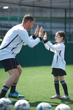 @officialkeith and Ella Greeves working on their goal celebrations
