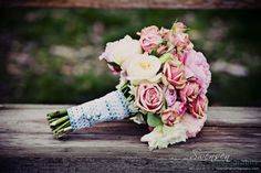 Wedding bouquet for rustic wedding. The bouquet is very romantic and adds a very vintage feel.