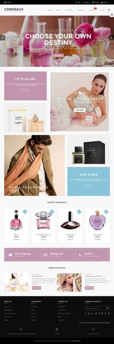 Comeback is a bundle of 25+ Best Premium Magento 1.9 #Themes and 18+ Multipurpose #Magento 2 Themes for multipurpose eCommerce website. #perfumes Download Now