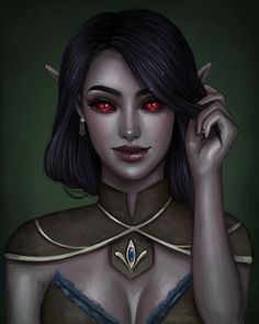 A comissioned portrait of a friend's gorgeous Dunmeri gal, Diramu! Elves Fantasy, Fantasy Warrior, Fantasy Rpg, Dark Fantasy Art, Fantasy Girl, Fantasy Artwork, Warrior Angel, Dungeons And Dragons Art, Dungeons And Dragons Characters