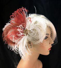 possible hair piece - minus the veil Bridal Fascinator, Bridal Hair, Facinator Hats, Wedding Inspiration, Wedding Ideas, Fantasy Wedding, Wedding Veil, Wedding Hair Accessories, Hair Dos