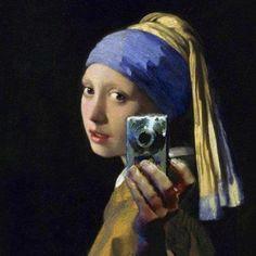 La jeune fille à l'appareil - Vermeer 2012