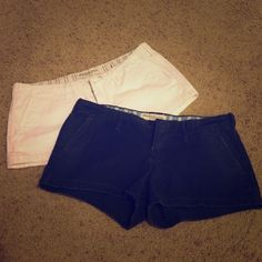 Shorts Abercrombie & Fitch shorts. Selling together. Each pair was approximately $60 each. One navy and one white. Both size 2. Abercrombie & Fitch Shorts