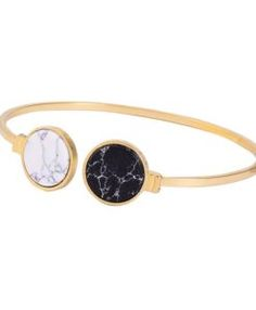 Bracelet jonc blanc et noir 2017