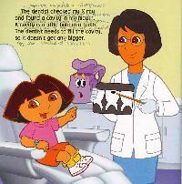 DORA la exploradora, Dora va al Dentista, Dora y sus amigos dibujos