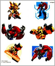 Transformers 4 Tattoo Sheets - Favours, Birthday Party Supplies, Canada