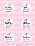 Breast Cancer Awareness  Favor Tags for Fundraising  DIY Free Printables