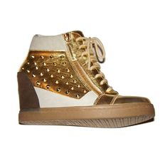 Dreya Wedge Gold from Fab on shop.CatalogSpree.com, your personal digital mall.