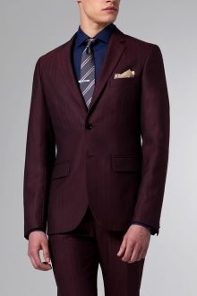 The Burgundy Herringbone Suit. #Indochino.