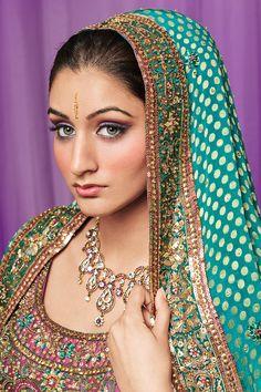 Asian model wearing bridal wear. - www.captureimagery.co.uk