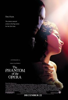 A disfigured musical genius, hidden away in the Paris Opera House, terrorizes the opera company for the unwitting benefit of a young protégée whom he trains and loves. (143 mins.) Director: Joel Schumacher Stars: Gerard Butler, Emmy Rossum, Patrick Wilson, Miranda Richardson