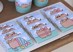 Pusheen Birthday, Cat Birthday, First Birthday Parties, First Birthdays, Birthday Ideas, Nyan Cat, Pusheen Cat, Hello Kitty Tattoos, Cat Merchandise