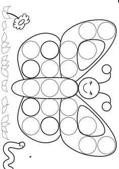 dessin papillon Fisher Tips Spring Activities, Toddler Activities, Preschool Activities, Preschool Worksheets, Preschool Crafts, Preschool Circus, Toddler Crafts, Crafts For Kids, Do A Dot